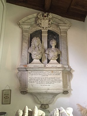 Pendley Manor - The Anderson tomb in the Pendley Chapel, St. John the Baptist, Aldbury