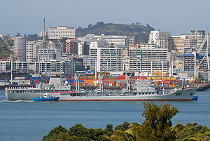 China–New Zealand relations - Chinese Navy ship in Auckland, NZ