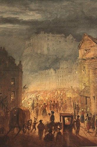 Porteous Riots - The Porteous Riot by James Skene, 1818