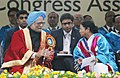 The Prime Minister, Dr. Manmohan Singh with the Chief Minister of West Bengal, Kumari Mamata Banerjee, during the inauguration of the 100th Session of Indian Science Congress, in Kolkata on January 03, 2013.jpg