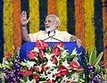 The Prime Minister, Shri Narendra Modi addressing the Sahakar Sammelan, in Amreli, Gujarat on September 17, 2017.jpg