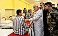 The Prime Minister, Shri Narendra Modi visiting the India-Tajik Friendship Hospital, in Quarghan Teppa, Dushanbe, Tajikistan on July 13, 2015. The President of Tajikistan, Mr. Emomali Rahmon is also seen (1).jpg