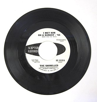 "The Shirelles - An updated/... version of the Shirelles' first song, ""I Met Him on a Sunday"" entitled ""I Met Him On A Sunday '66"""