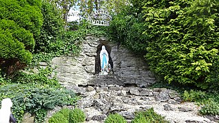 Carfin Grotto shrine in North Lanarkshire, Scotland, UK
