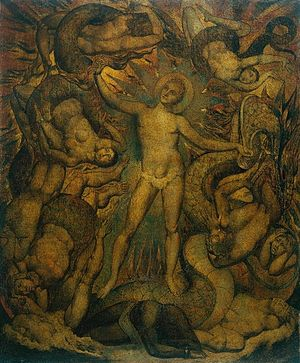 Leviathan in popular culture - William Blake's painting The Spiritual Form of Nelson Guiding Leviathan, in which the monster is a symbol of military sea-power controlled by Nelson