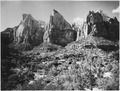 The Three Patriarchs, west side of Canyon. - NARA - 520336.tif