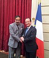 The Union Minister for Commerce & Industry, Shri Anand Sharma with the President of France, Mr. Francois Hollande, in Paris on July 08, 2013.jpg