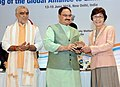 The Union Minister for Health & Family Welfare, Shri J.P. Nadda giving away the GAELF Awards, at the 10th meeting of Global Alliance to Eliminate Lymphatic Filariasis (GAELF), in New Delhi.JPG
