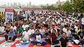 The Union Minister for Human Resource Development, Shri Prakash Javadekar performing Yoga, on the occasion of the 4th International Day of Yoga 2018, in Marine Drive, Mumbai on June 21, 2018 (1).JPG