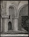 The church of St. Bartholomew the Great; interior view showi Wellcome V0029967.jpg