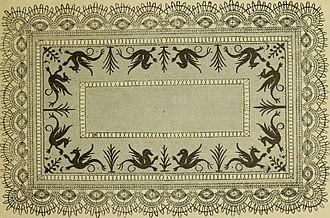 Antimacassar - Design of a cloth antimacassar
