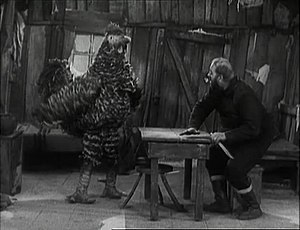 Scene from the movie The Gold Rush. 1925.