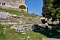 The ruins of the Archaic Temple of Dionysus on March 12, 2020.jpg