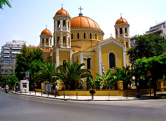 Gregory Palamas - Metropolitan Church of Saint Gregory Palamas, Thessaloniki, where his relics are found.