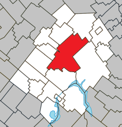 Location within Les Appalaches RCM