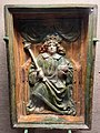 This stove tile depicts King Matthias from Buda castle 1480.jpg