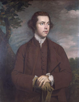 Thomas Jones (artist) - Giuseppe Marchi, Portrait of Thomas Jones (1768). Oil on canvas, 92.0 × 72.0 cm. National Museum Cardiff