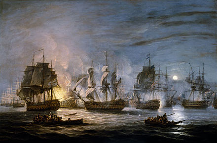 The Battle of the Nile, Thomas Luny, 1830, National Maritime Museum Thomas Luny, Battle of the Nile2.jpg
