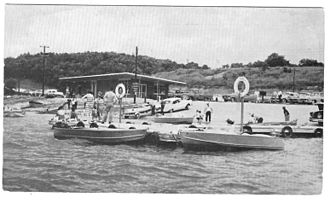 Kirksville, Missouri - Boaters enjoying the new Thousand Hills State Park Marina, mid-1950s.