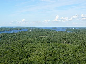 Thousand Islands National Park - Aerial view.