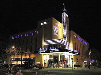 Cinema of Germany - The Titania-Palast in Berlin-Steglitz, an Art Deco style movie theater opened in 1928