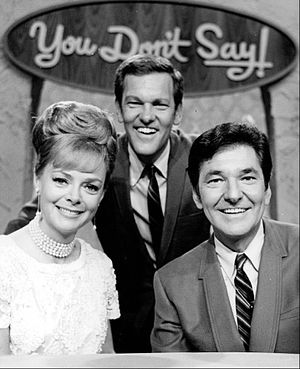 Jack Narz - Narz with brother Tom Kennedy and actress June Lockhart, 1968.