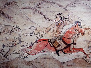 File tomb of northern qi dynasty in jiuyuangang xinzhou for Dynasty mural works
