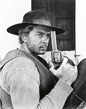 """Tony Anthony (actor) - Anthony as """"The Stranger"""" during the production of A Stranger in Town (1967)"""