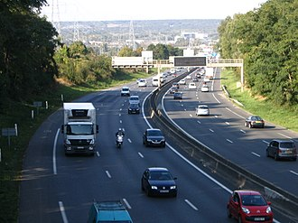 A104 autoroute - The A104 near of Torcy