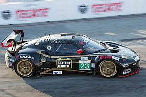 Alex Job Racing - Alex Job Racing Lotus Evora GTE driven by Bill Sweedler and Townsend Bell at the Toyota Grand Prix of Long Beach.