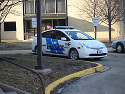 خودروی هیبریدی متعلق بهپلیس شهری نیویورک