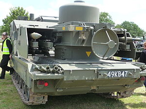Rapier (missile) - Tracked Rapier (rear view)