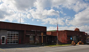 Tracy City, Tennessee - Tracy City City Hall, November 2014.