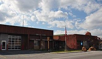Tracy City, Tennessee - Tracy City City Hall, November 2014.