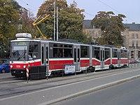 Tramvaj Tatra KT8D5N v Brně