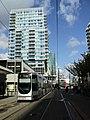 Tram driving by at Lijnbaan.jpg