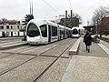 Tramways à la station Einstein à Villeurbanne.JPG
