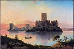 Trocki zamak. Троцкі замак (J. Marszewski, 1866).jpg