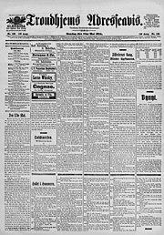 Trondhjems Adresseavis vom 17. Mai 1905
