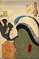 Tsukioka (Taiso) Yoshitoshi (1839-1892), Heet - het uiterlijk van een welgestelde huisvrouw tijdens de Bunsei periode (1888).jpg
