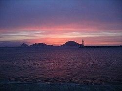 Turgutreis'in karşısındaki Çatalada'da günbatımı.