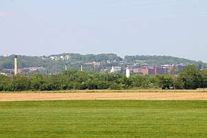 Turkey Hill (Pennsylvania) - Part of Turkey Hill as seen from the Streater Fields in Bloomsburg