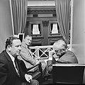 Tweede Kamer, vlnr drie Commissarissen der Koningin Hedzer Rijpstra (Friesla, Bestanddeelnr 926-6416.jpg