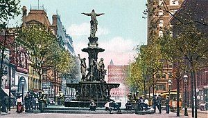 Tyler Davidson Fountain - Tyler Davidson Fountain in 1906