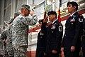 U.S. Army Maj. Gen. Patrick Murphy, left, the adjutant general of New York salutes U.S. Air Force Senior Master Sgt. Erik Blom, center, during a Bronze Star award ceremony at Westhampton Beach, N.Y., Dec. 6 131206-Z-SV144-318.jpg