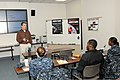 U.S. Sailors assigned to the aircraft carrier USS Abraham Lincoln (CVN 72) attend a Deckplate Resource Awareness workshop Nov. 14, 2013, at the Fleet and Family Support Center in Newport News, Va 131114-N-BY172-012.jpg
