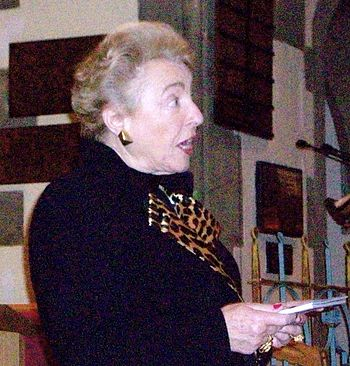 English: Dame Stephanie Shirley addressing the...
