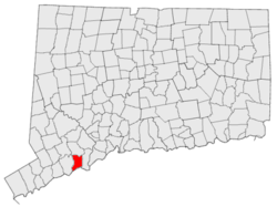 Lokasi di Fairfield County, Connecticut