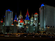 Excalibur Hotel and Casino at night