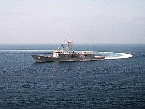 USS Duncan (FFG-10) - USS Duncan (FFG-10) comes about near San Diego, California.